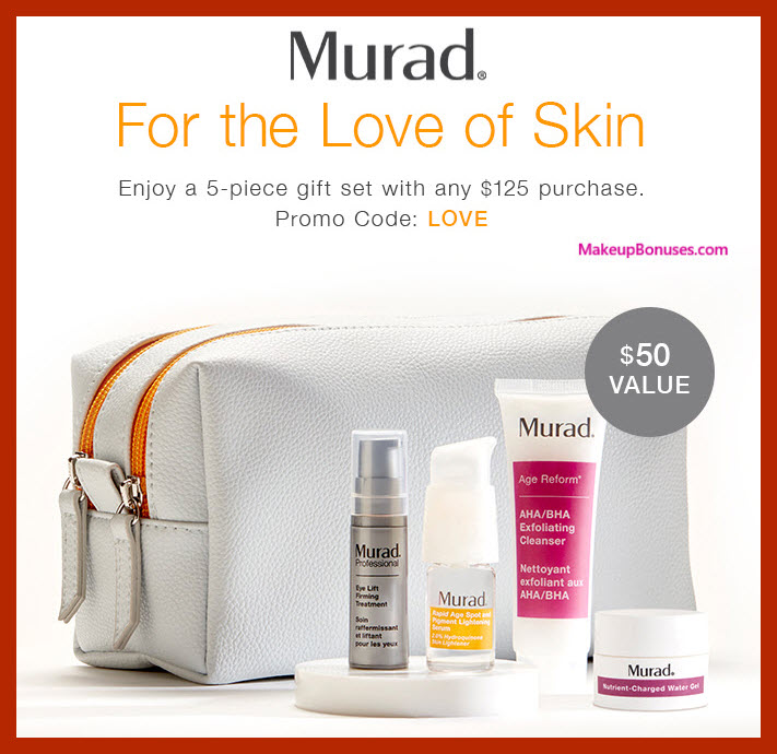 Receive a free 5-pc gift with $125 Murad purchase