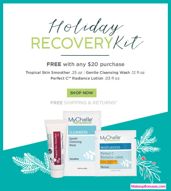Receive a free 3-pc gift with $20 MyChelle purchase