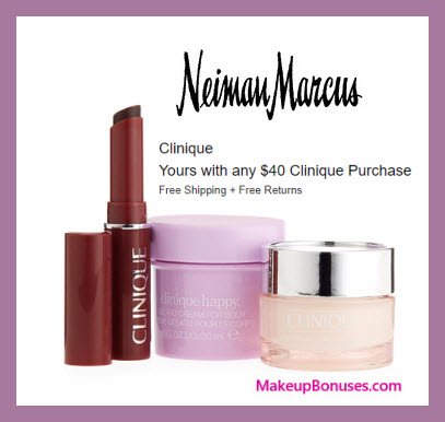 Receive a free 3-pc gift with $40 Clinique purchase