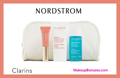 Receive a free 4-pc gift with $45 Clarins purchase