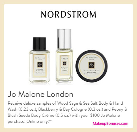 Receive a free 3-pc gift with $100 Jo Malone purchase
