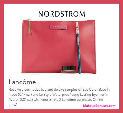 Receive a free 3-pc gift with $49.5 Lancôme purchase