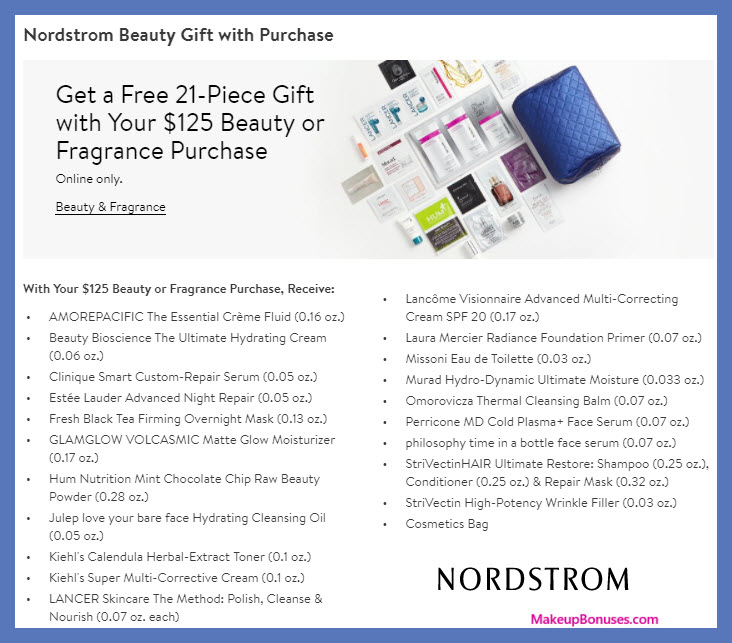 Receive a free 21-pc gift with $125 Multi-Brand purchase