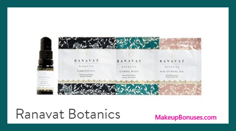 Receive a free 4-pc gift with $75 Ranavat Botanics purchase