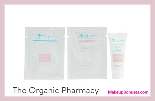 Receive a free 3-pc gift with $75 The Organic Pharmacy purchase