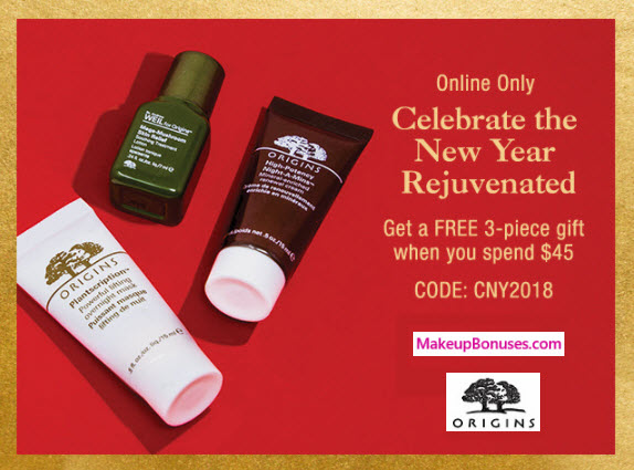 Receive a free 3-pc gift with $45 Origins purchase