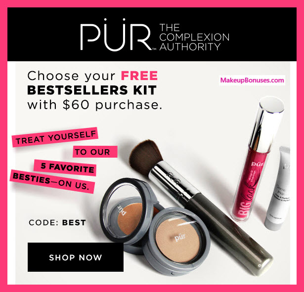 Receive your choice of 5-pc gift with $60 PÜR purchase