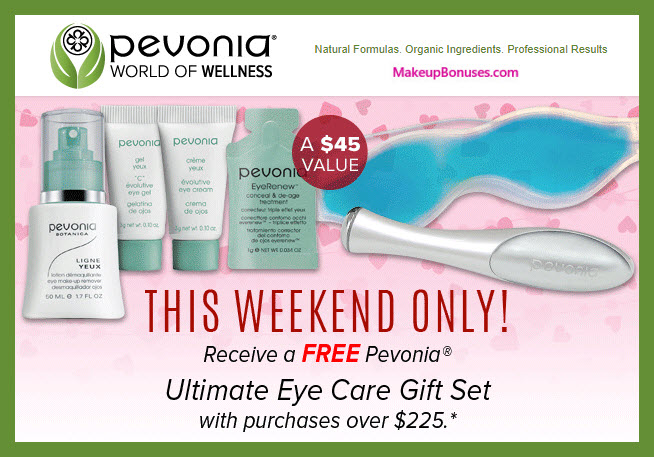Receive a free 6-pc gift with $225 Pevonia purchase