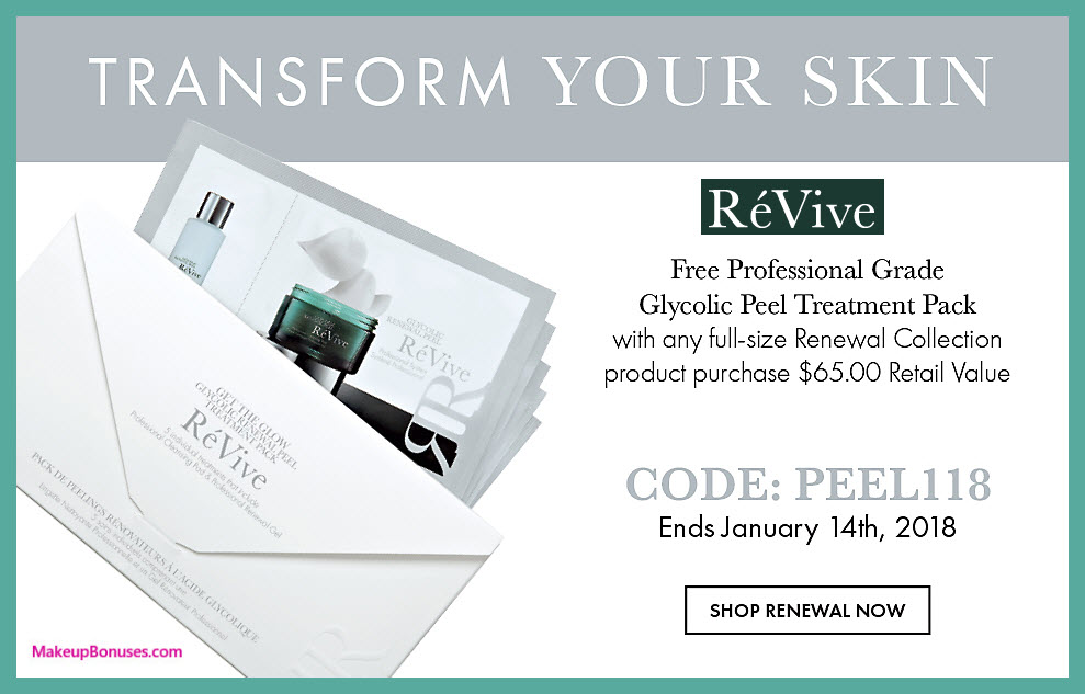 Receive a free 5-pc gift with $65 RéVive purchase