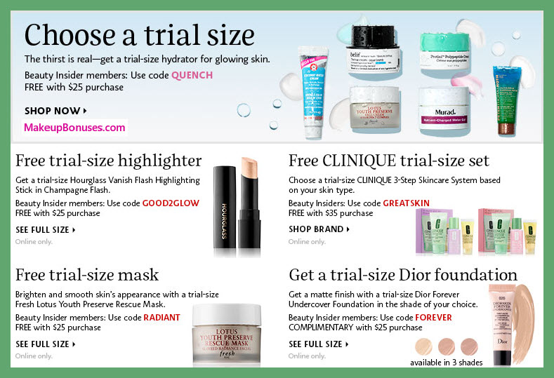 Receive your choice of 3-pc gift with $35 Multi-Brand purchase