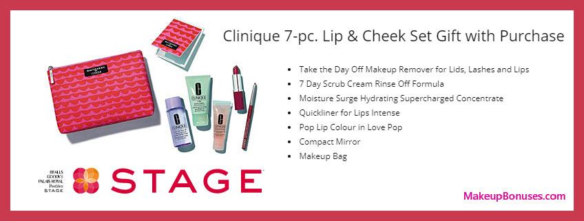 Receive a free 7-pc gift with $28 Clinique purchase
