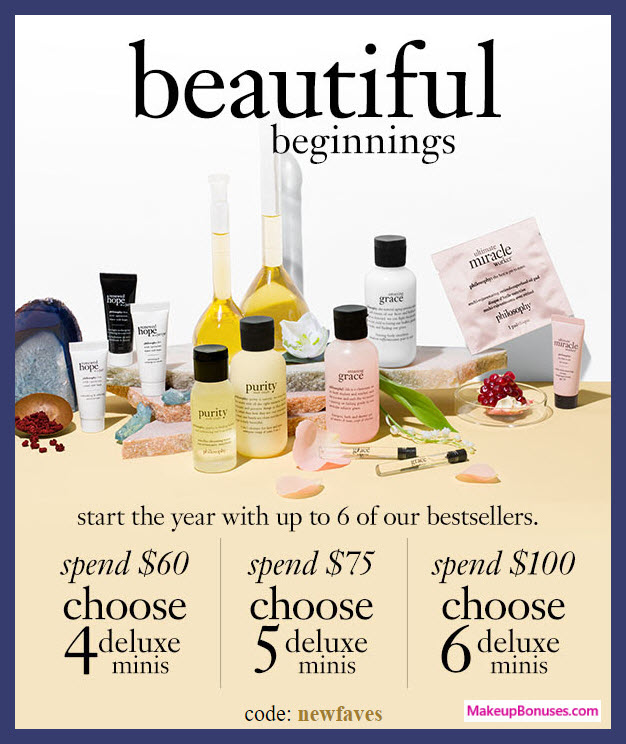 Receive your choice of 6-pc gift with $100 philosophy purchase