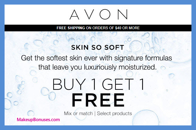 Receive a free 3-pc gift with 3 Skin So Soft purchase
