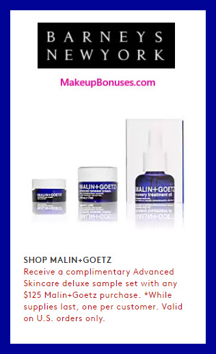 Receive a free 3-pc gift with $125 Malin + Goetz purchase