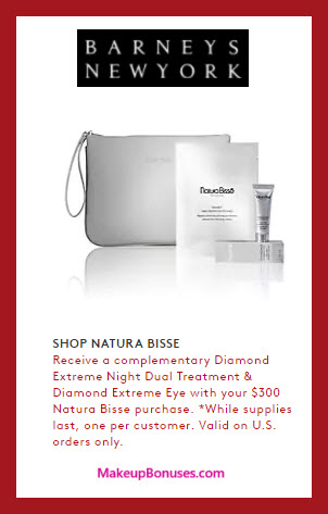 Receive a free 4-pc gift with $300 Natura Bissé purchase