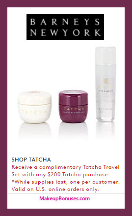 Receive a free 3-pc gift with $200 Tatcha purchase