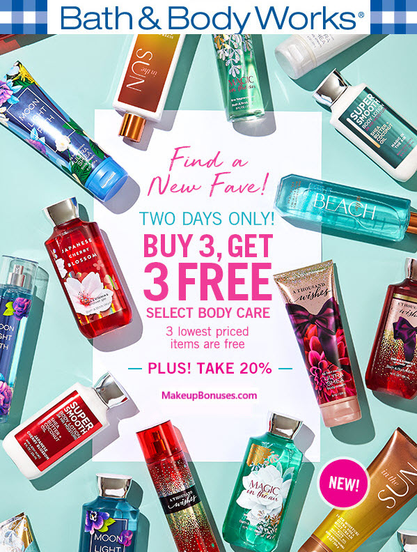 Receive a free 3-pc gift with 3 Select Body Care purchase