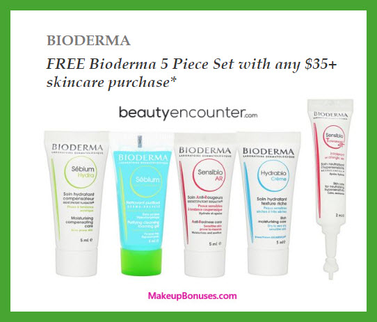 Receive a free 5-pc gift with $35 Skincare purchase