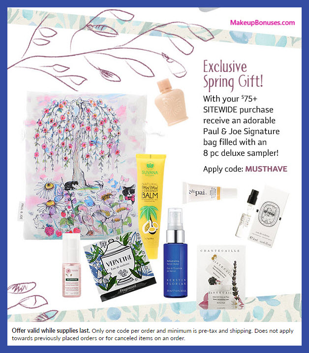 Receive a free 9-pc gift with $75 Multi-Brand purchase