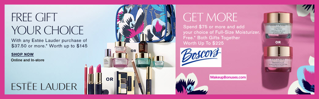 Receive a free 8-pc gift with $75 Estée Lauder purchase