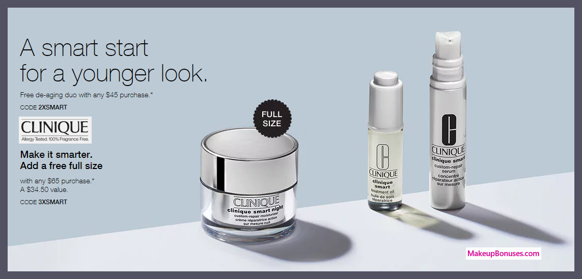 Receive a free 3-pc gift with $65 Clinique purchase
