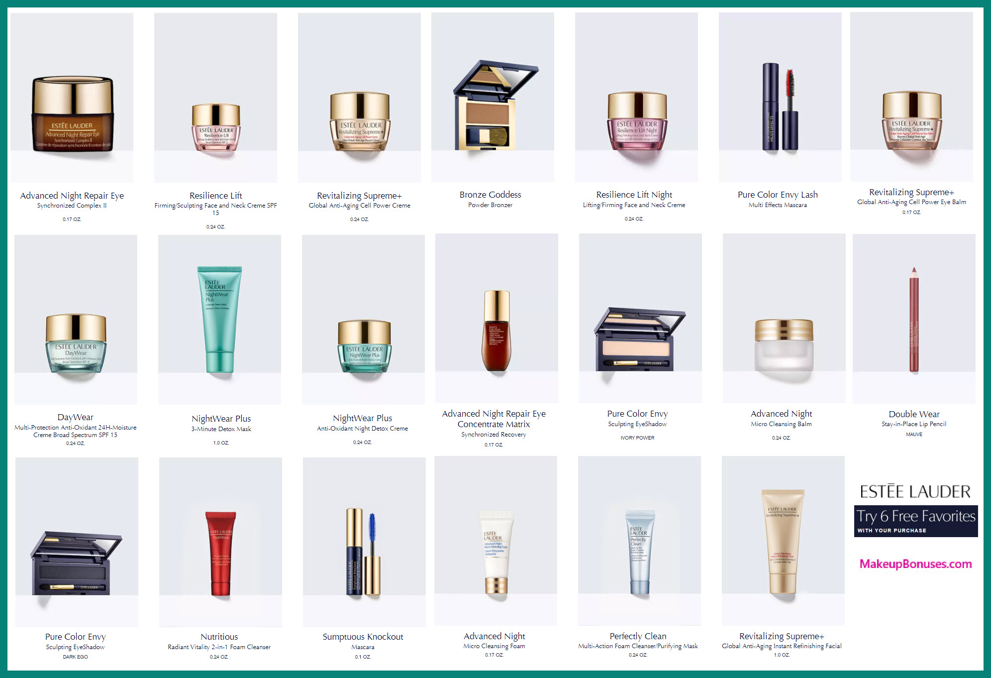 Receive your choice of 5-pc gift with $125 Estée Lauder purchase