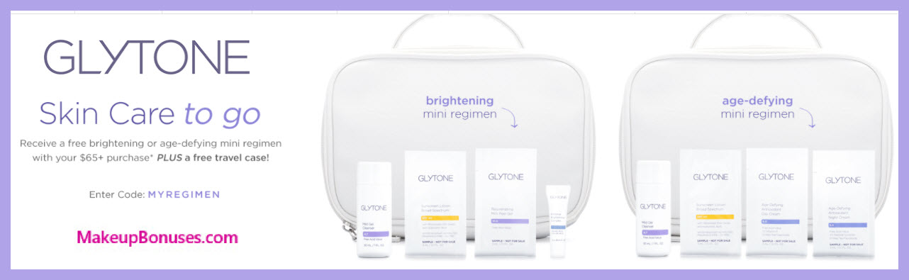 Receive your choice of 5-pc gift with $65 Glytone purchase