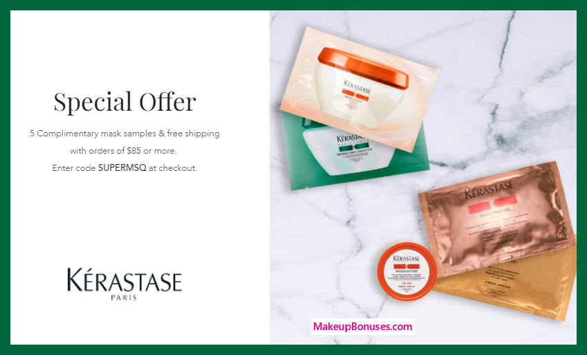 Receive a free 5-pc gift with $85 Kérastase purchase