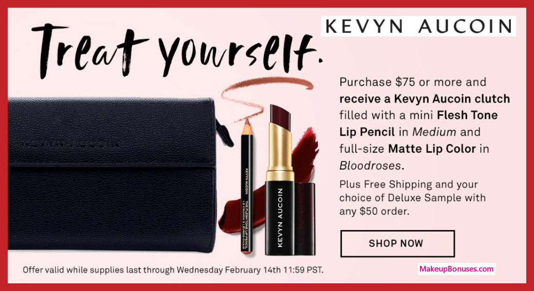 Receive a free 3-pc gift with $75 Kevyn Aucoin purchase