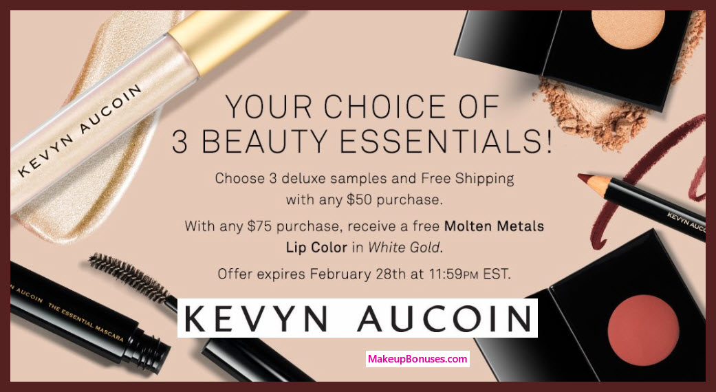 Receive your choice of 3-pc gift with $50 Kevyn Aucoin purchase