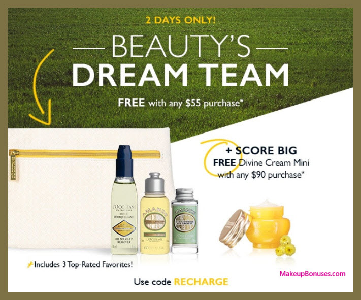 Receive a free 4-pc gift with $55 L'Occitane purchase