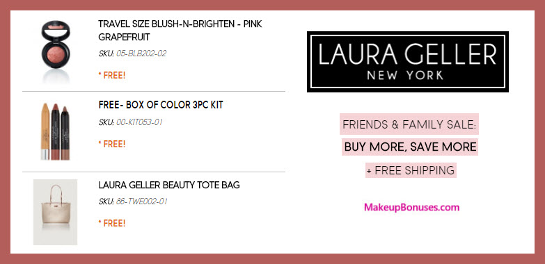 Receive a free 5-pc gift with $100 Laura Geller purchase