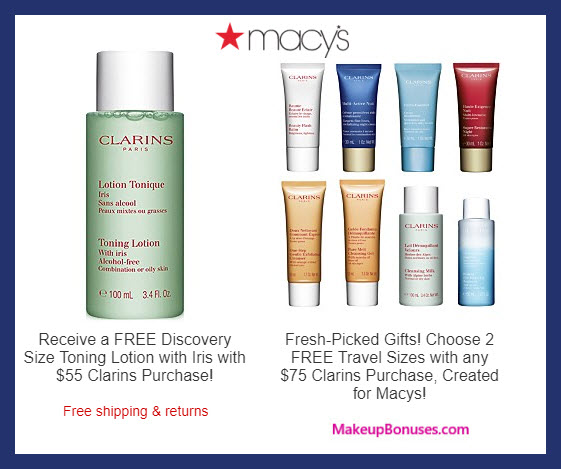 Receive a free 3-pc gift with $75 Clarins purchase