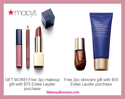 Receive a free 5-pc gift with $75 Estée Lauder purchase