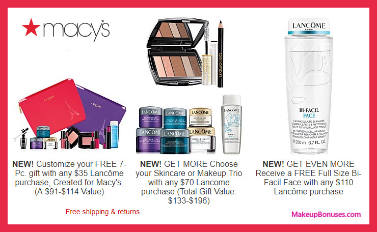 Macy S Free Bonus Gifts Makeup Bonuses