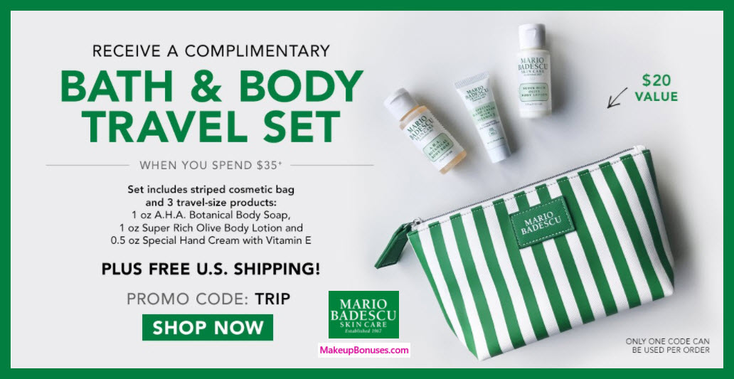 Receive a free 4-pc gift with $35 Mario Badescu purchase