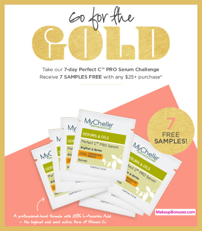 Receive a free 7-pc gift with $25 MyChelle purchase