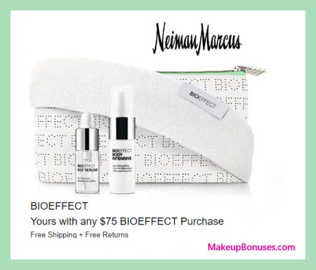 Receive a free 4-pc gift with $75 BIOEFFECT purchase