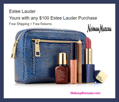 Receive your choice of 5-pc gift with $100 Estée Lauder purchase
