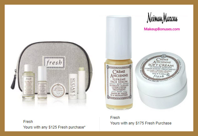 Receive a free 4-pc gift with $125 Fresh purchase