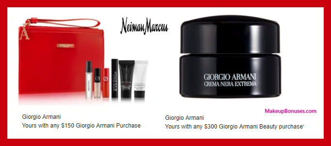 Receive a free 9-pc gift with $300 Giorgio Armani purchase