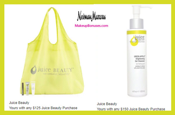 Receive a free 4-pc gift with $125 Juice Beauty purchase
