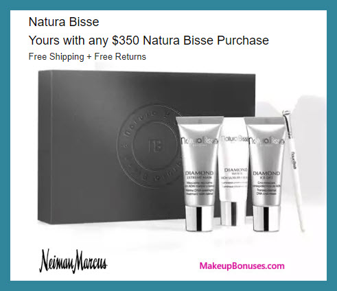 Receive a free 4-pc gift with $350 Natura Bissé purchase