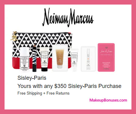 Receive a free 8-pc gift with $350 Sisley Paris purchase