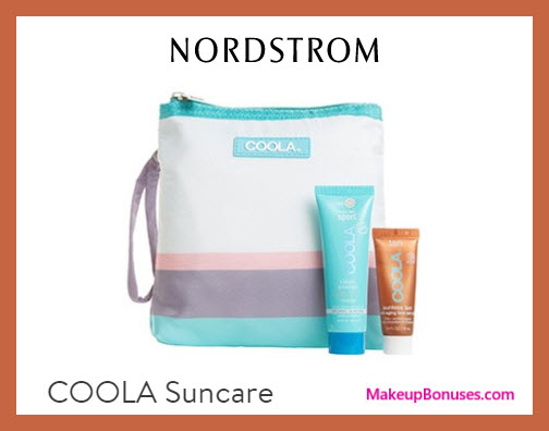 Receive a free 3-pc gift with $40 COOLA purchase