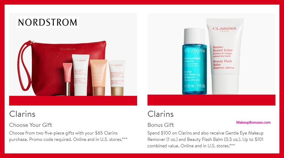Receive a free 5-pc gift with $65 Clarins purchase