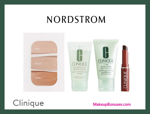 Receive a free 4-pc gift with $35 Clinique purchase