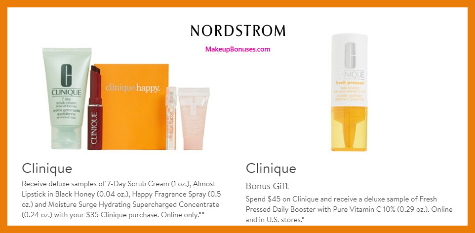 Receive a free 5-pc gift with $45 Clinique purchase
