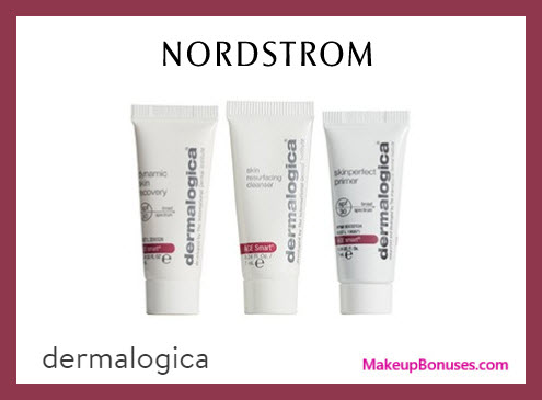 Receive a free 3-pc gift with $75 Dermalogica purchase