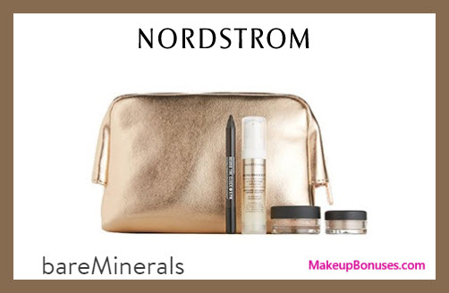 Receive a free 5-pc gift with $65 bareMinerals purchase